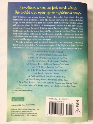 The back of the book.